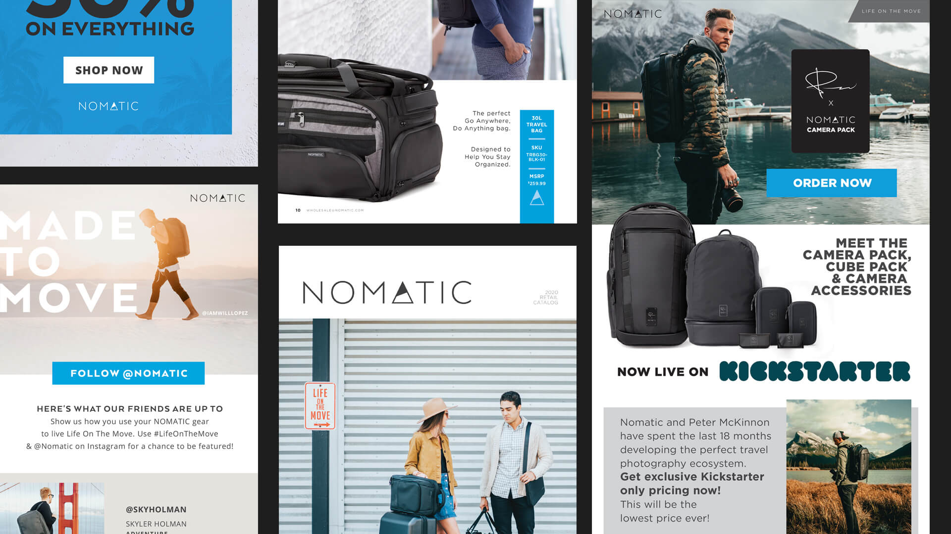 Email and marketing elements - Nomatic