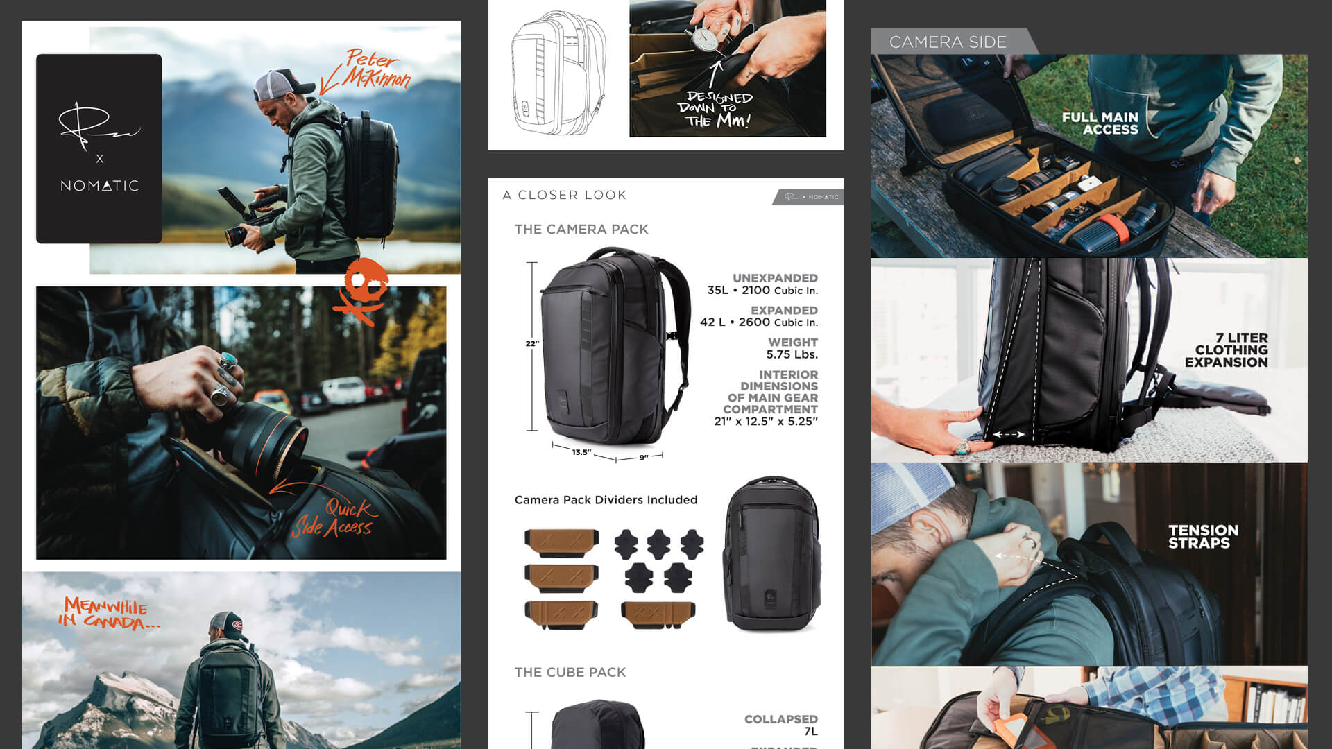 Kickstarter design elements - Nomatic