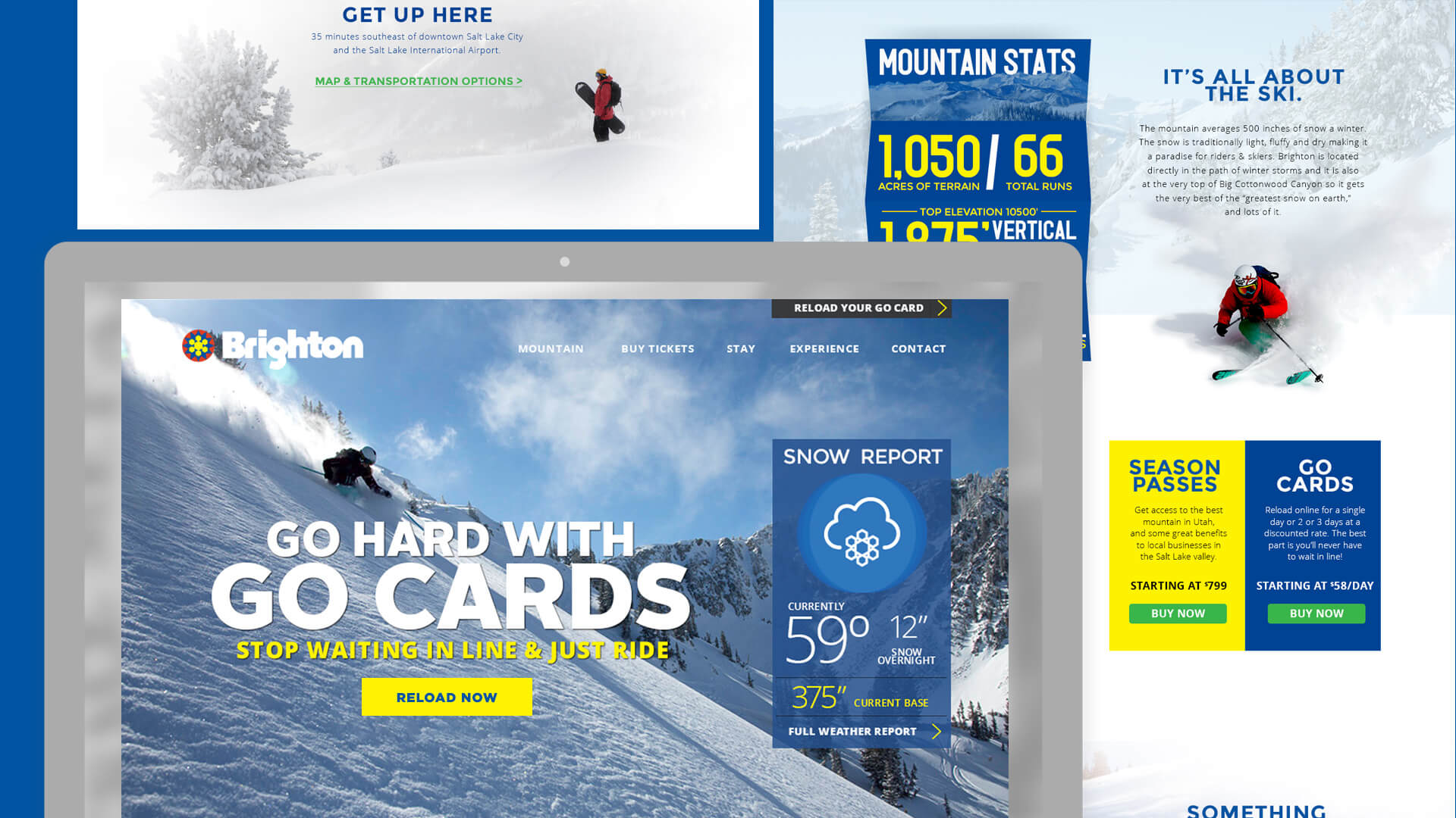 Website Design - Brighton Ski Resort