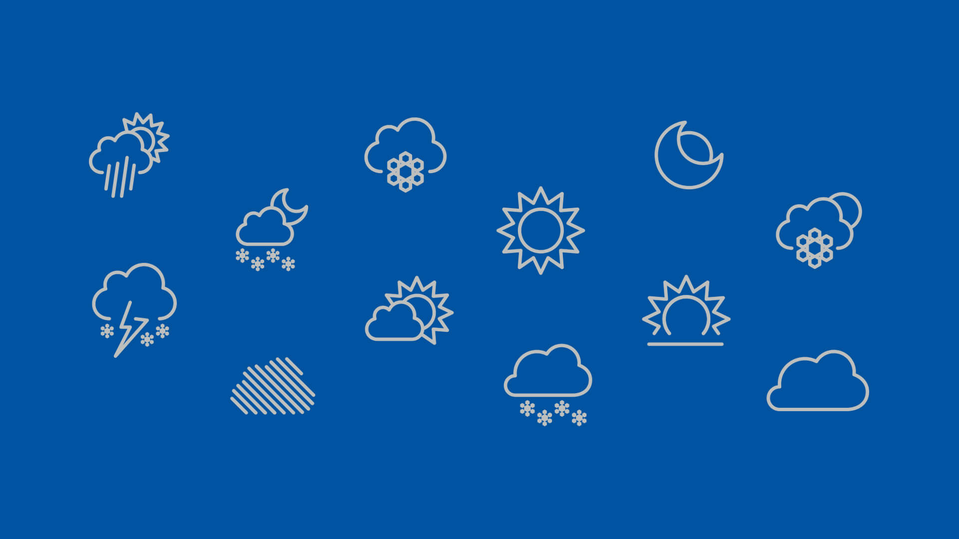 Website Weather Icons - Brighton Ski Resort