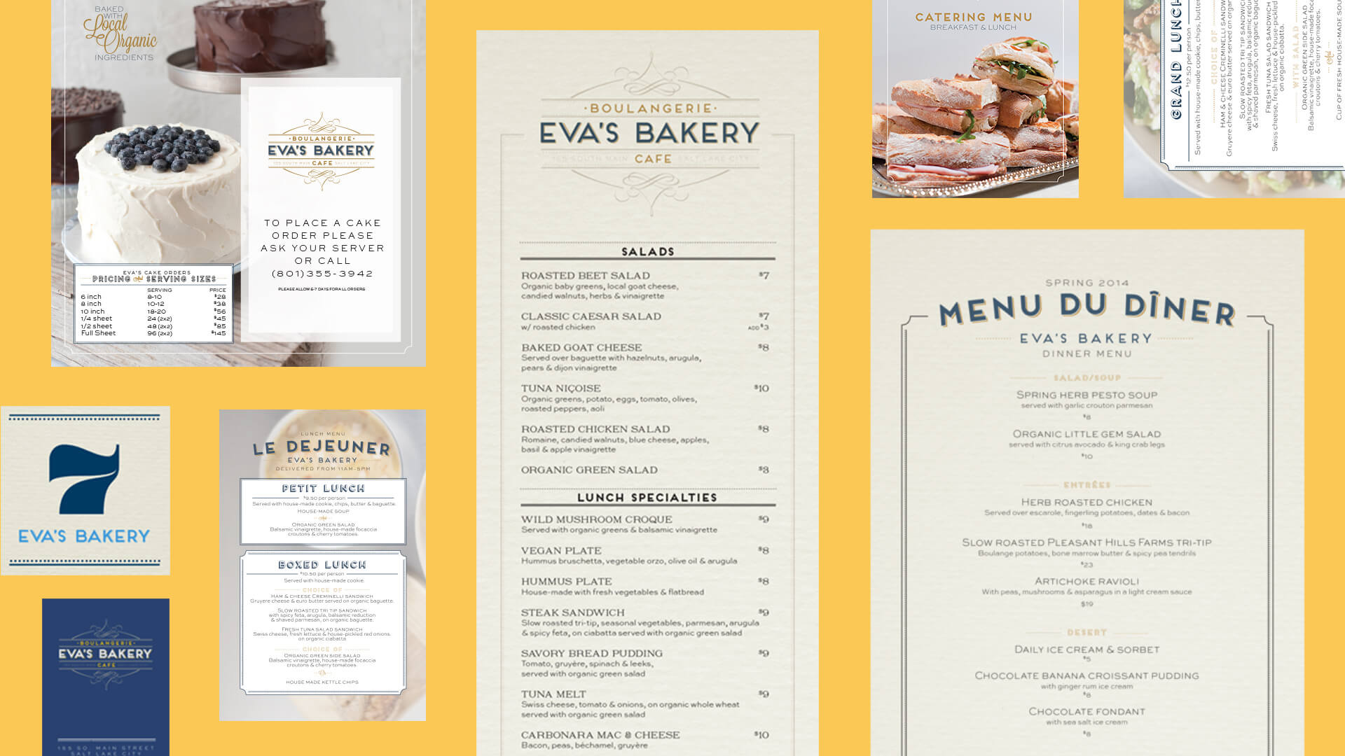 Print Collateral - Eva's Bakery